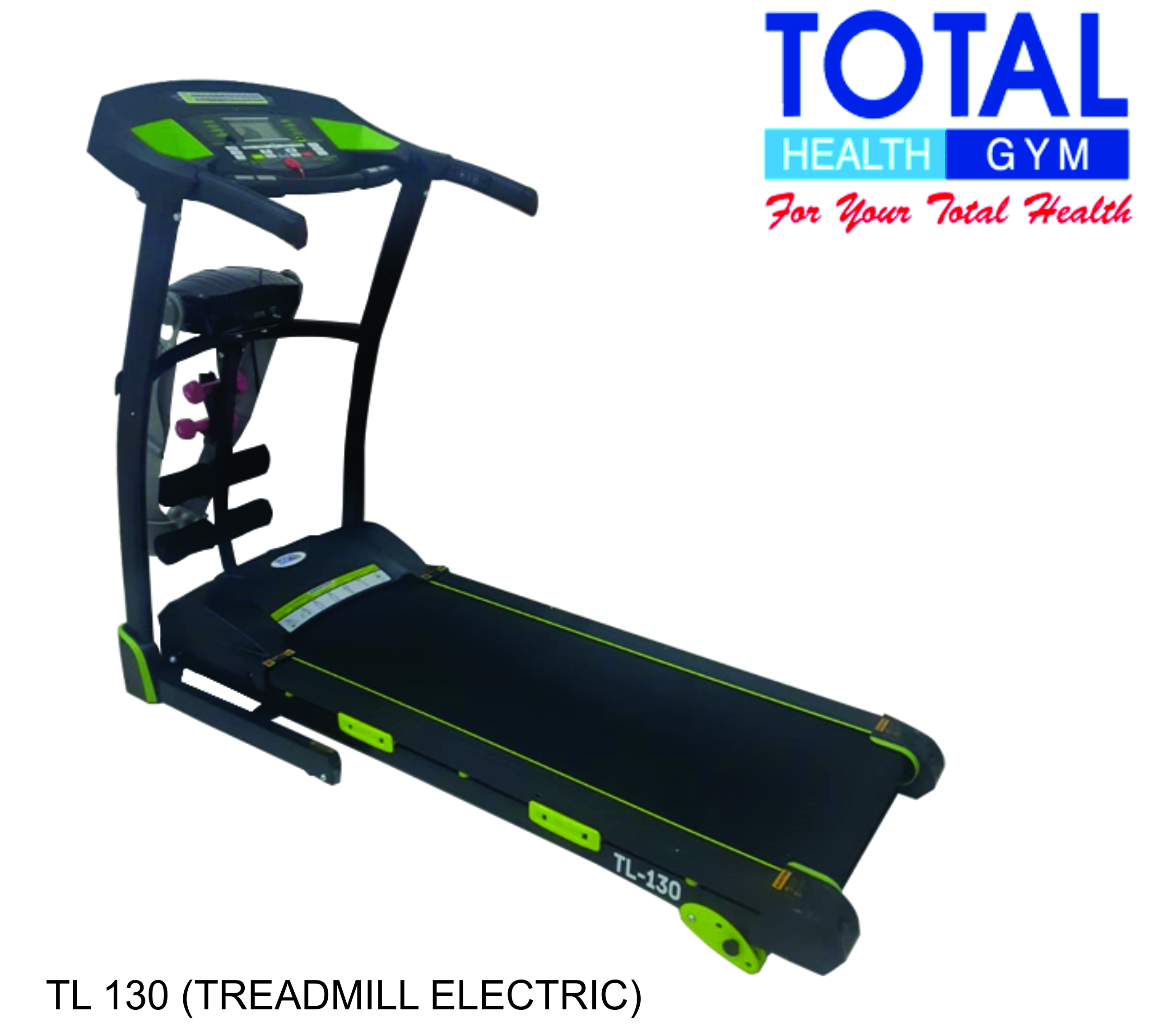Treadmill Elektrik TL-130 manual incline - Hijau